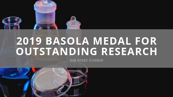 Kim Renee Dunbar - 2019 Basola Medal for Outstanding Research