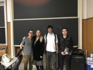 Kim Renee Dunbar with students
